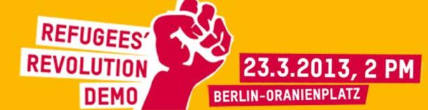 Refugee Revolution Demo