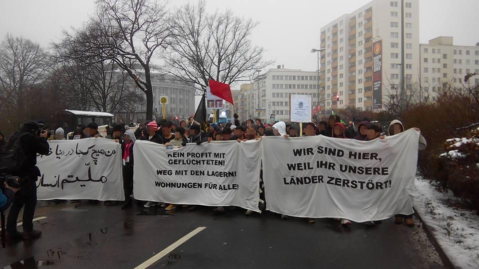 Solidemo für Geflüchtete am Tempelhofer Feld, 23. 1.2016
