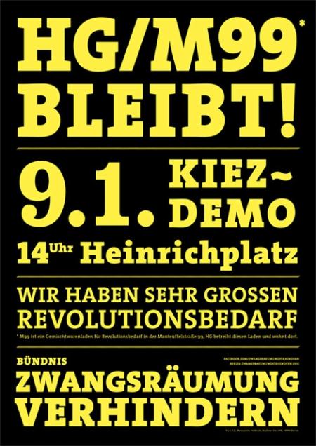 Demo HG/M99 bleibt