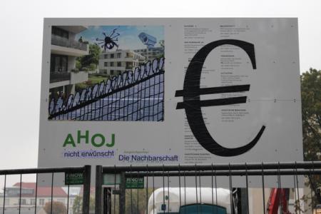 Werbetafel Ahoj-Baugruppenprojekt Rixdorf