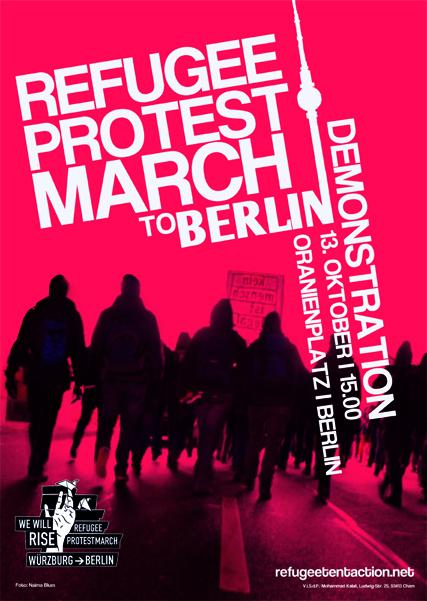 Refugee Protest Demonstration Berlin