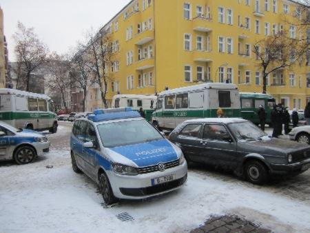 Zwangsräumung Boddinstrasse 14.12.2012