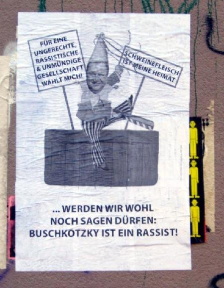 Plakat gegen Buschkowsky