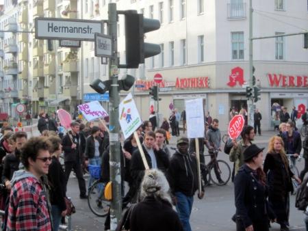 Demo  Zu viel Ärger, zu wenig Wut in Neukölln