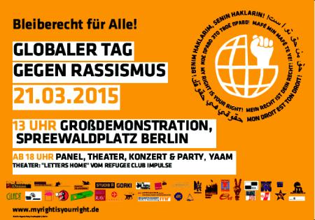 Demo gegen Rassismus 21. März 2015