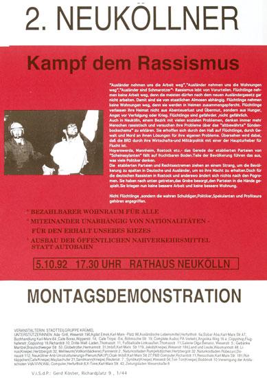 Demo gegen Rassismus