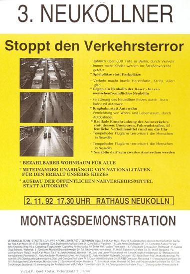 Demo Verkehrsterror stoppen