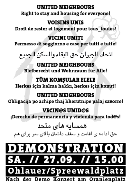 Demo United Neighbors 27.9.2014