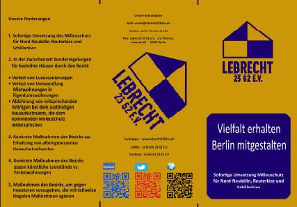 Flyer Kampagne Milieuschutz Nord-Neukölln