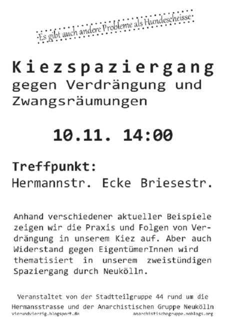 Kiezspaziergang am 10. November Neukölln