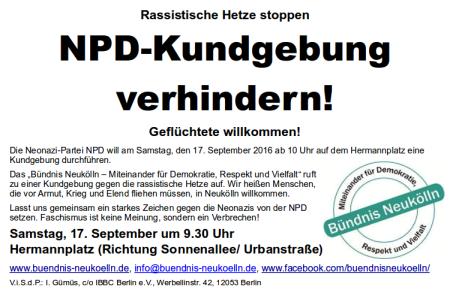 NPD-Kundgebung verhindern