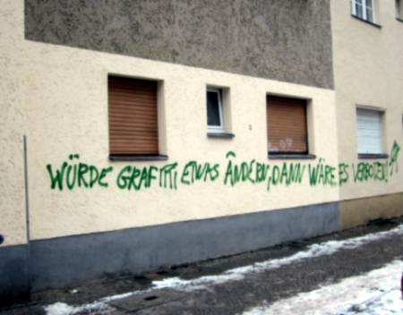 Bewirken Graffitis was