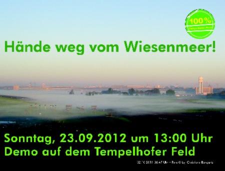Hände weg vom Wiesemeer Demo 23.9.2012