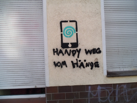 Handy weg