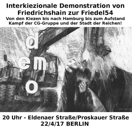 Interkiezionale Demo 22.Apri 2017