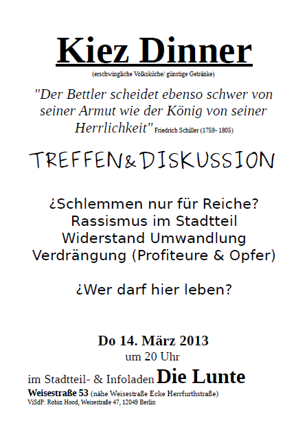 KiezDinner 14.3.2013