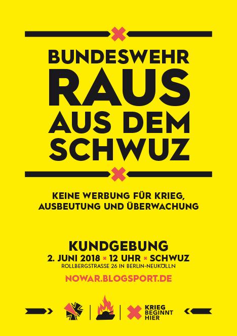 Kundgebung Bundeswehr raus aus dem Schwuz