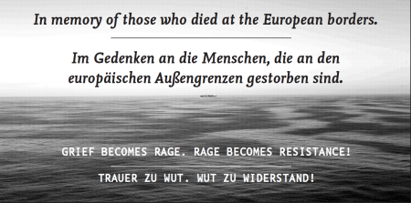 In memory of those who died on european borders