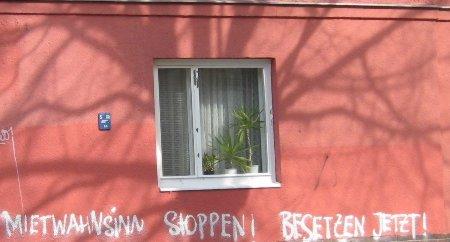 Mietwahnsinn stoppen Graffiti Schillerkiez