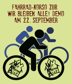 Fahrrad-Korso zur WBA-Demo 22.9.2012