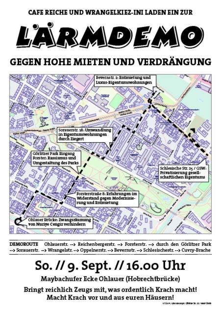 Lärmdemo Reiche-Kiez 9.September 2012