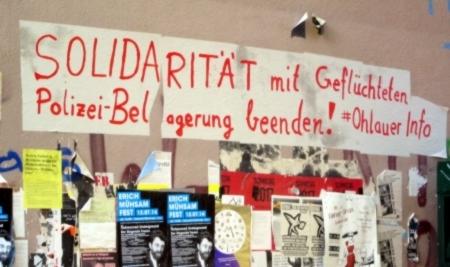 Solidarität im Schillerkiez mit Geflüchteten