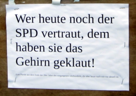 Kein Vertrauen für SPD