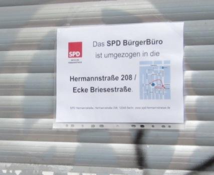 SPD am Herrfurthplatz verdraengt