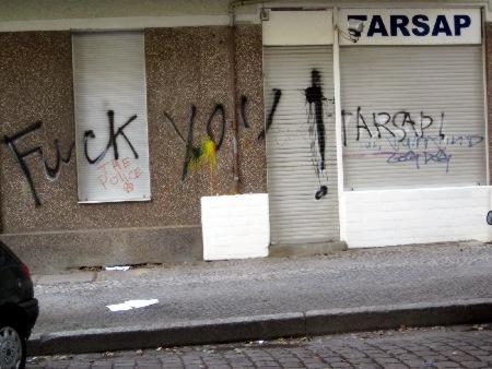 Protest gegen Tarsap Immobilien