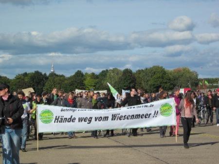 Demo Tempelhofer Feld 23.9.2012