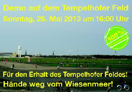 Demo Tempelhofer Feld Mai 2013