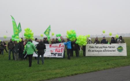 Tempelhof für Alle Aktion Dez 2013