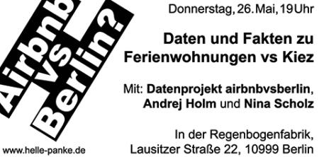 Veranstaltung: Berlin und Airbnb ... was sagen die Zahlen?