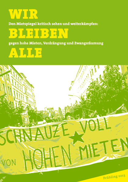 Berliner Mietspiegel 2013 Broschüre