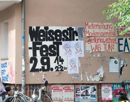 Strassenfest Weisestrasse Infowand Schillerkiez