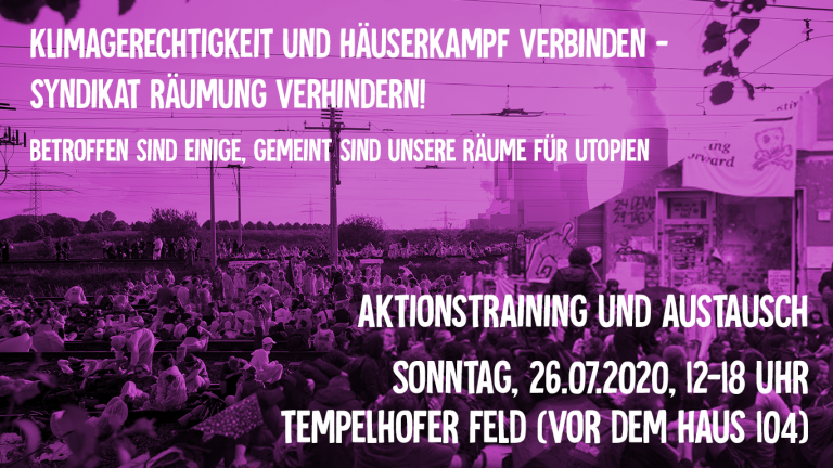 Aktionstraining auf dem Tempelhofer Feld