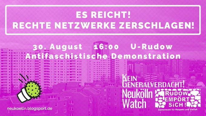 Antifaschistische Demonstration in Rudow am 30.8.2020