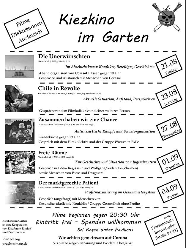 Kiezkino im Garten 2020