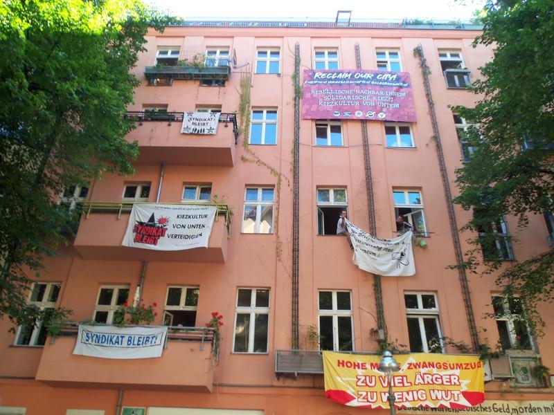 Ein Haus protestiert gegen die geplante Räumung