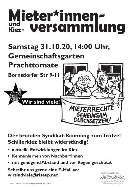 Kiezversammlung Schillerkiez
