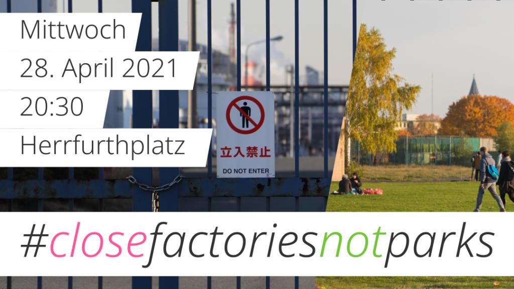 Flyer Demo :Close Factories – Not Parks