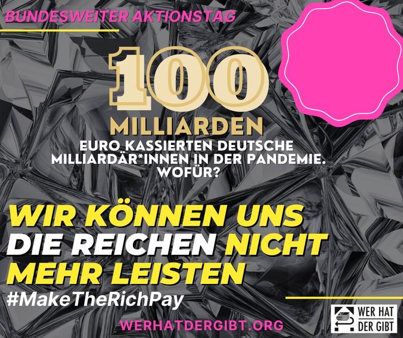 Demonstration Wer Hat Der Gibt – Bundesweiter Aktionstag: 21.8.2021