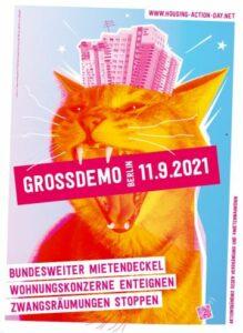 11. September 2021: Große Demo gegen hohe Mieten